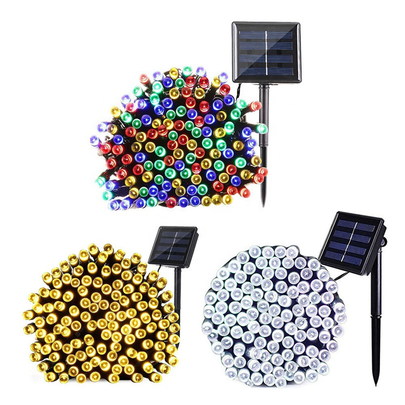 50/200/300 LED Solar Light Waterproof Fairy Garland Lights String Outdoor Holiday Christmas Party Wedding Solar Lamp Decor
