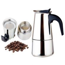 Модный дизайн, большая емкость, нержавеющая сталь, 304, Moka чайник, Кофеварка, плита, эспрессо, Кофеварка Mixpresso, 2-9 чашек