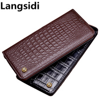 Business genuine leather stand phone case for Samsung Galaxy J4 2018 flip cover for Samsung Galaxy J6 2018 phone bag card slot