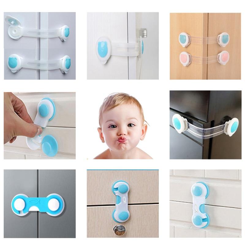 10PCS Multifunctional Baby Anti-pinch Hand Drawer Lock Child Safety Drawer Lock Refrigerator Indoor Door Lock Baby Safety Lock