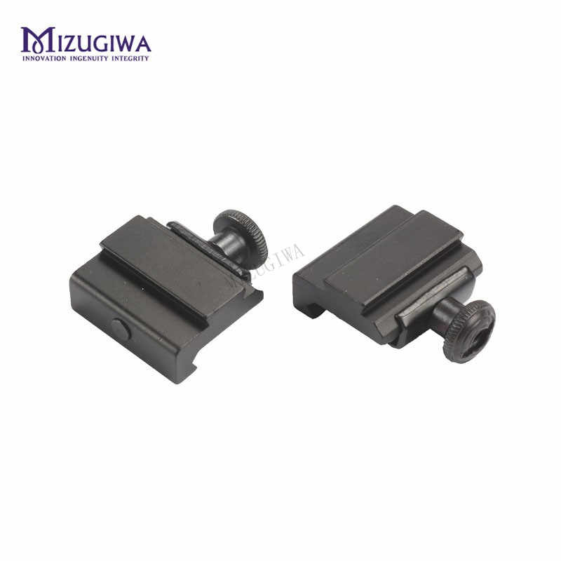 1 unidad MIZUGIWA plano superior 20mm a 11mm Weaver Picatinny a Dovetail Rail adaptador Base montaje largo 30mm Rail pistola Airsoft