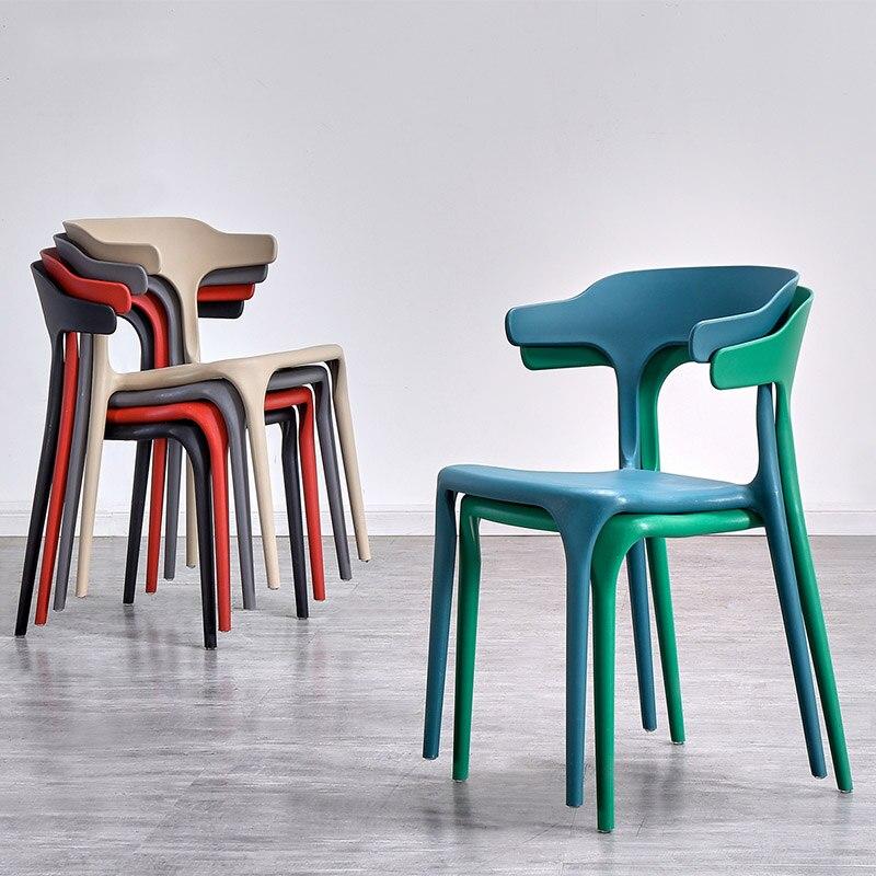 €165.76 25% de DESCUENTO|Sillas modernas de plástico de cuerno de buey para  comedor, sillas de comedor, muebles de restaurante, sala de estar, ...