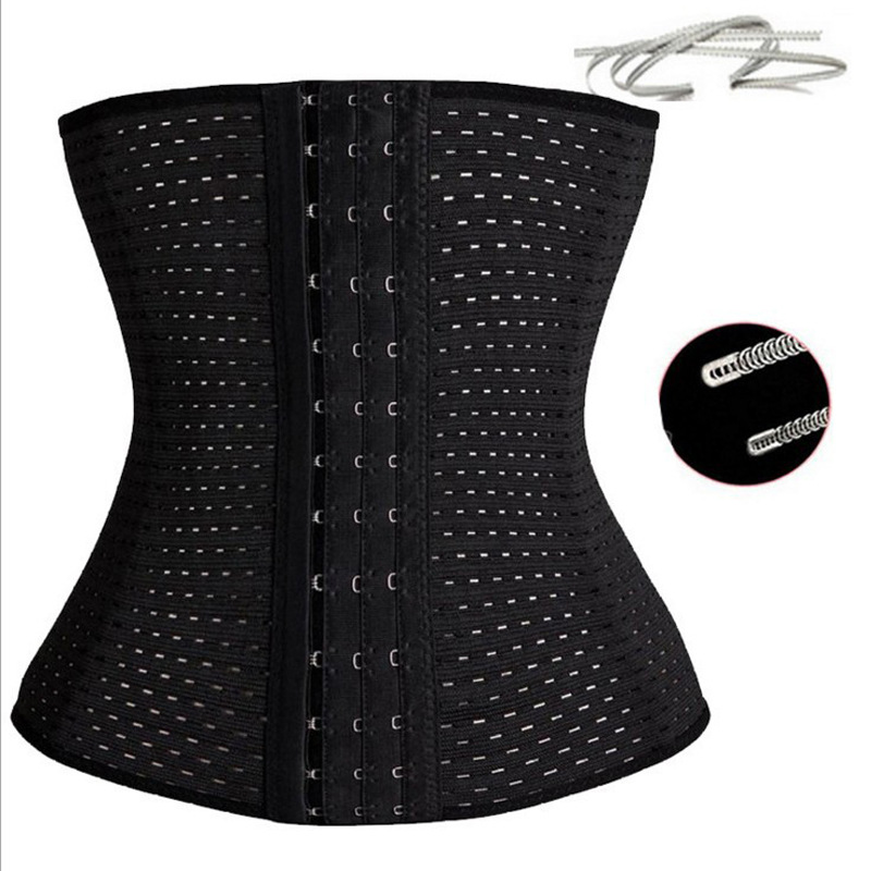 COLORIENTED Women Waist Cinchers Ladies Corset Shaper Band  Body Building Front Buckle Three Breasted Dropship Support