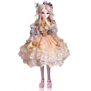 60 см 18 подвижных суставов BJD кукла 1/3 с Полный комплект одежды парики обувь обновленный шар для макияжа шарнирные куклы Коллекция игрушек