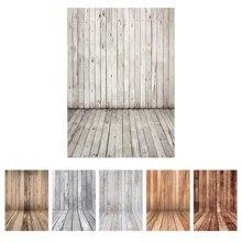Arrière plan photographique Vintage plancher mural en bois vinyle tissu arrière plans de photographie pour Studio Photo Fotografia bébé Photophone