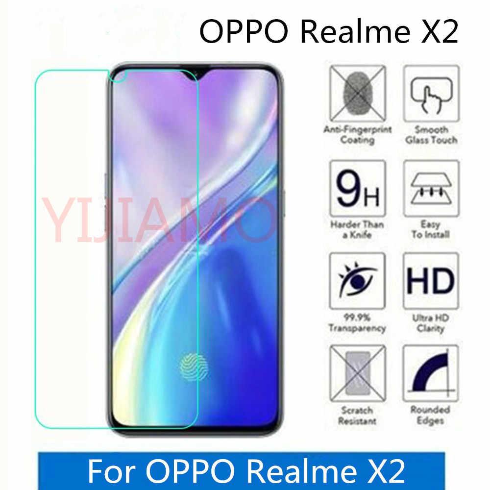 ガラスのための Oppo Realme X2 x ライトスクリーンプロテクター強化ガラス Oppo Realme 3 5 pro のガラス Realme c1 c2 Q アンチスクラッチフィルム