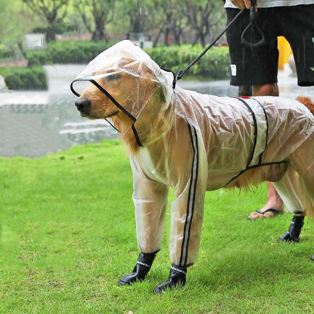 transparent verstellbar wasserdicht KoKoBin Regenmantel f/ür Hunde und Katzen f/ür kleine Hunde mit Kapuze ultraleicht PVC