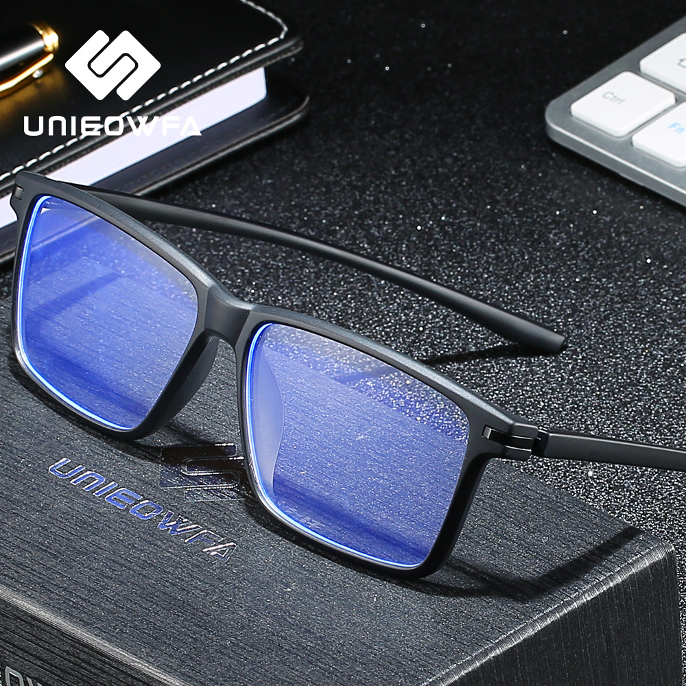 Computer Glasses For Men Anti Blue Light Blocking Eye Glasses Radiation Protection Gaming Eyeglasses Anti Blue Rays Glasses TR90