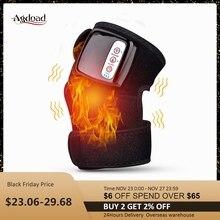 Masajeador de rodilla con calefacción eléctrica, soporte Vibrador para articulación de infrarrojos lejanos, masaje de hombros y espalda, tratamiento de rodilla y codo