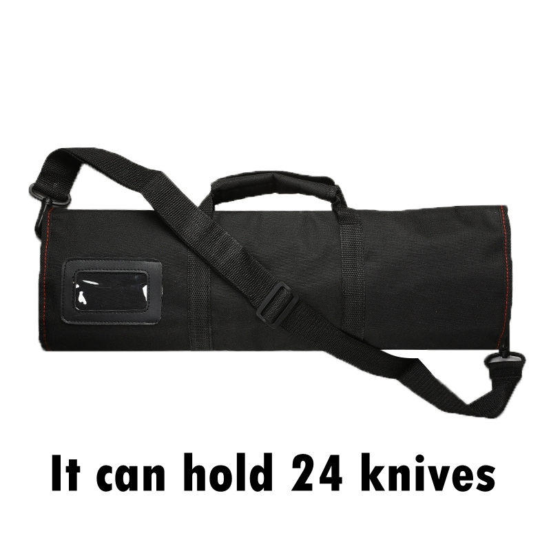 12 Pocket Multi-function Chef Knife Bag Roll Bag Carry Case Bag Kitchen Cooking Accessories Portable Durable Chef Storage Bag