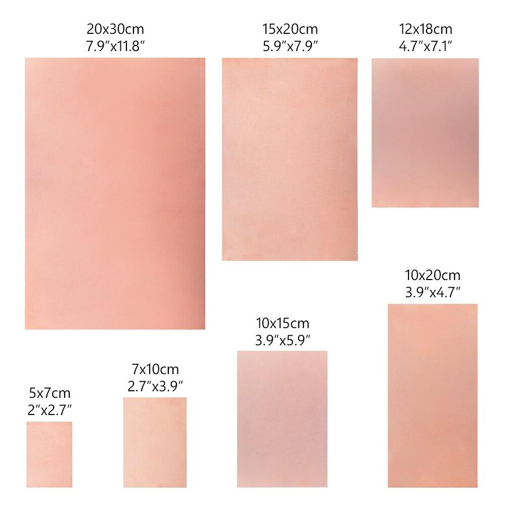 Печатная плата с одной стороны из стекловолокна, FR-4, медная, 5x7 см 7x10 см 10x15 см 10x20 см 12x18 см 15x20 см 20x30 см, ламинат