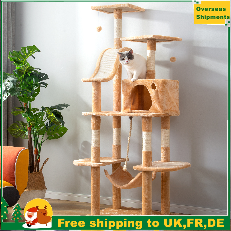170cm Cat Kitten Tree Cat Tower Climbing Scratching Post Cat Scratcher Activity Centre Cat Scratching Post Cat Tree House Toy