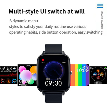 P6 Smart Watch Men Bluetooth Heart Rate Monitor Smart Clock Women Sports Fitness Tracker Full Touch Whatsapp IOS Android PK P8 2