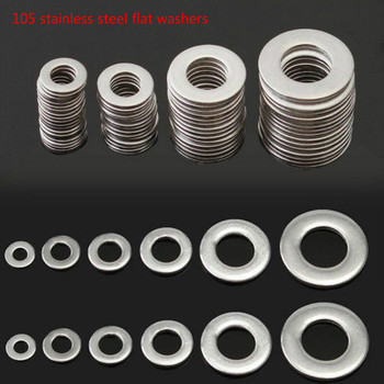 105 stainless steel flat washers 304 Stainless Steel Washer/Spring Metric Washer Assortment Set M3 M4 M5 M6 M8 M10 youen 60pcs 304 stainless steel metric helicoil wire thread repair inserts coarse m3 m4 m5 m6 m8 m10 m12
