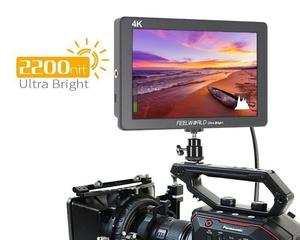 "Image 4 - 7 ""4 K monitorowanie Feelworld P7 ultra hd jasny 2200nit aparat ekran wideo HDMI 1920x1200 monitor dslr"