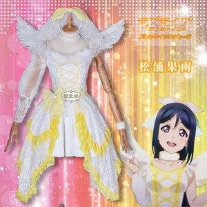 LoveLive! Sunshine! Matsuura Kanan Косплэй костюм 6 Юбилей Вокальный концерт издание следующий сверкающие! Официальное Платье; обычай по индивидуальному з...