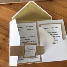 1 шт образец полый лазерный разрез трехкратный золотой и слоновой кости карман для свадебных приглашений карман пригласительный конверт RSVP