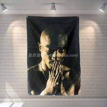 """2PAC"" 56X36 Inch Grote Banner Retro Rock Band Logo Poster Doek Schilderen Bar Cafes Hostel Thuis decor(China)"