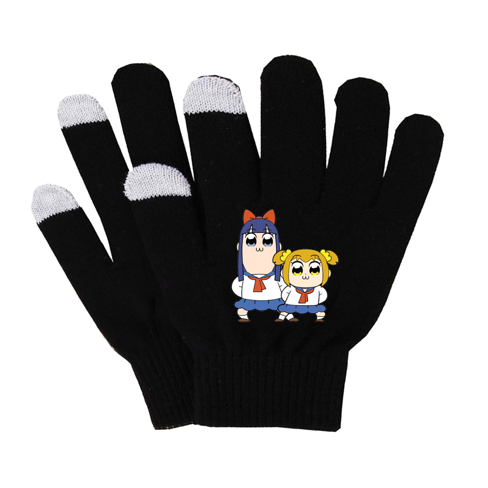 Anime Pop Team Epic Gloves Unisex Finger Cotton Warm Gloves Mobile Phone Pad D1 Touch Screen Gloves Long Finger Gloves