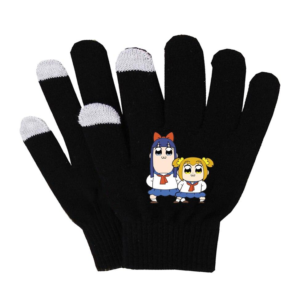Anime Pop Team Epic Gloves Unisex Finger Cotton Warm Gloves Mobile Phone Pad D1 Touch Screen Gloves Long Finger Gloves