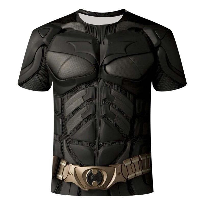 Men's T-shirt Batman VS Superman 3D Print T-Shirt Men's Summer T-Shirt Short Sleeve Cosplay Costume Fitness Top