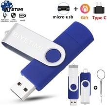 Biyetimi Multifunctional USB Flash Drive otg 2.0 pendrive 64gb cle usb флэш-накопител stick 32gb 16gb 8gb 4g Pen Drive for phone