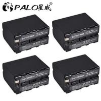 4 قطعة 7200mAh NP F960 NP F970 NPF960 NPF970 كاميرا بطارية قابلة للشحن لسوني NP F550 NP F770 NP F750 NP F770 NPF960 NPF970-في بطاريات رقمية من الأجهزة الإلكترونية الاستهلاكية على