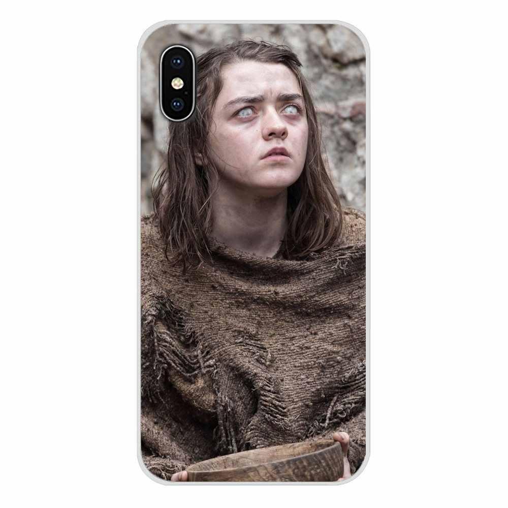 Aksesoris Ponsel Shell Cover untuk Xiao Mi Mi 4 MI 5 MI 5S MI 6 Mi A1 A2 A3 5X 6X 8 Cc 9 T Lite Se Pro Game Of Thrones Arya Stark