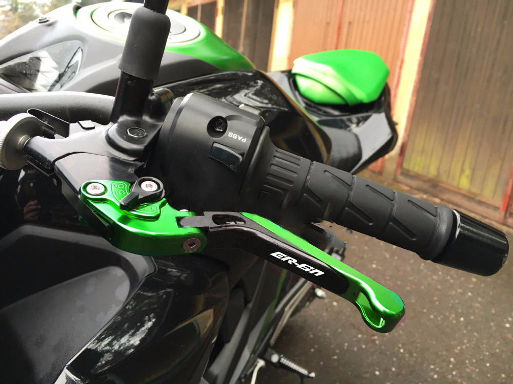 עבור Kawasaki ER-6n ER6N אה 6N 2009 - 2017 2012 2013 2014 2015 2016 אופנוע מתכוונן מתקפל ידית מנופי בלם מצמד