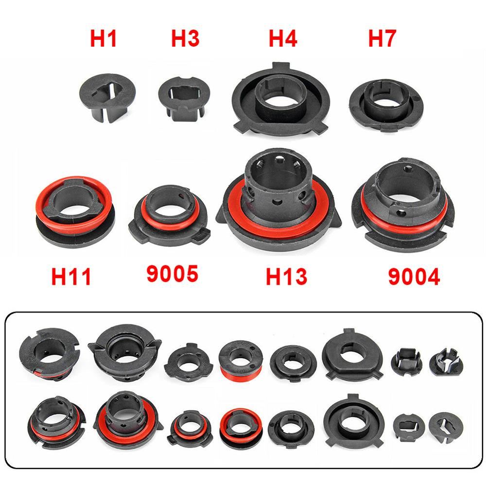 1Pair Car LED Headlight Light Lamp Bulb Adapter Holder Base Sockets Retainer For H1 H3 H4 H7 H11 H13 9004 9005 9006 9007 880