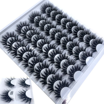 NEW 2-20 pairs 8-25mm fake Eyelashes 100% Mink Eyelashes Mink Lashes Natural Dramatic Volume Eyelashes Extension False Eyelashes 1