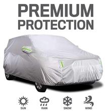 Pokrowiec na samochód pełne etui z pasek odblaskowy ochrona przeciwsłoneczna pyłoszczelna odporna na zarysowania UV na służbowy samochód 4X4 SUV tanie tanio KKMOON Plandeki samochodowe