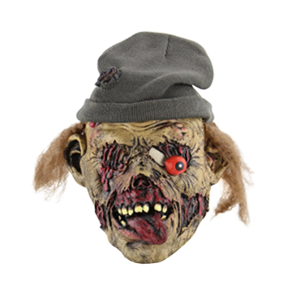 Zombie Gravekeepers Disgusting Horror Halloween Bar Ghost House Props Set To Make Funny Masks Grave Keeper