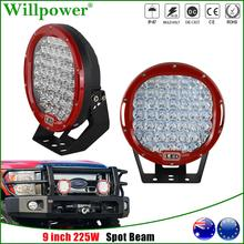 9 225W Round LED Work Light For Jeep Wrangler JK 4x4 Off Road Truck SUV Pickup Front Bumper LED Spot Headlight Driving Lamp 12 5 inch 3rd led spare tire red brake light car styling round tail wheel signal lamps for jeep wrangler jk off road accessories