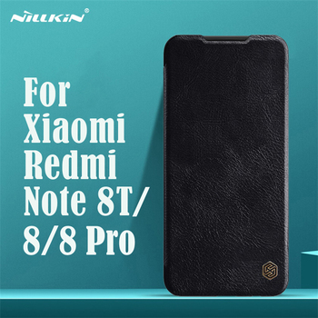 For Xiaomi Redmi Note 8T Note 8 Pro Flip Case Nillkin Qin Vintage Leather Flip Cover Card Pocket Case For Redmi Note8 Phone Bags