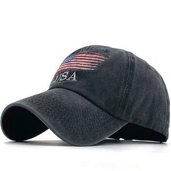 Wholsale Fashion USA Flag Camouflage Baseball Cap For Men Women Snapback Hat Army American Bone Trucker High Quality Gorras - discount item  70% OFF Hats & Caps