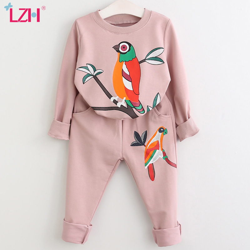LZH Girls Clothing Sets Autumn Spring Toddler Girls Clothes Kids Tracksuit For Girl Suit Costume Children\'s Clothing 3 6 7 Year