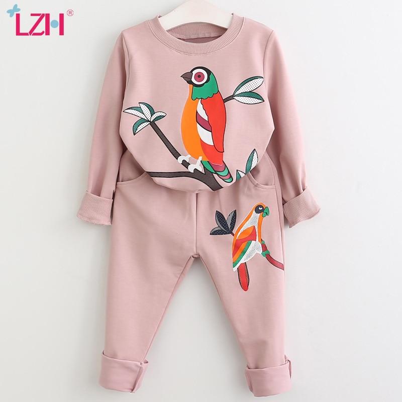 LZH/комплекты одежды для девочек на весну осень; Одежда для маленьких девочек; Одежда для девочек; Детский спортивный костюм для мальчиков и девочек; Костюм; Детская одежда; 3 От 6 до 7 лет|Комплекты одежды| | АлиЭкспресс