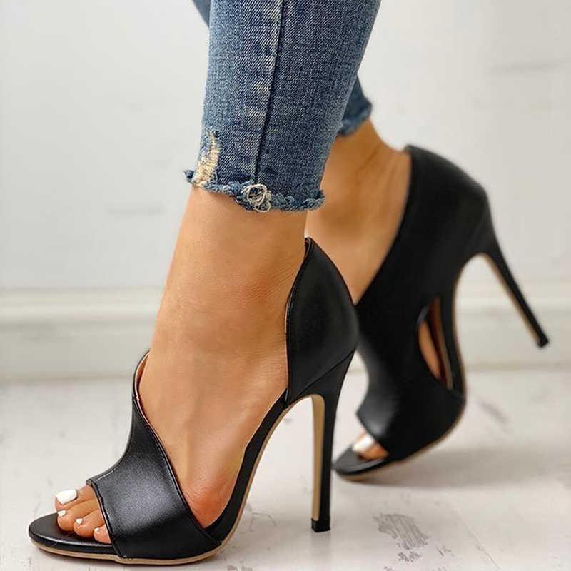 Sıcak kadın pompaları yeni ayakkabı seksi yüksek topuklu bayanlar parti Stiletto ve büyütücüler kadın siyah düğün yılan baskı topuklu Zapatos