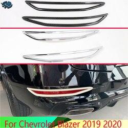 Para chevrolet blazer 2019 2020 acessórios do carro abs chrome refletor traseiro luz de nevoeiro capa da lâmpada guarnição moldura quadro estilo decore