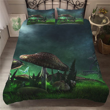 A Bedding Set 3D Printed Duvet Cover Bed Set Fairy Mushroom Home Textiles for Adults Bedclothes with Pillowcase #MG06 шторы тканевые seven fairy home textiles 6036 5
