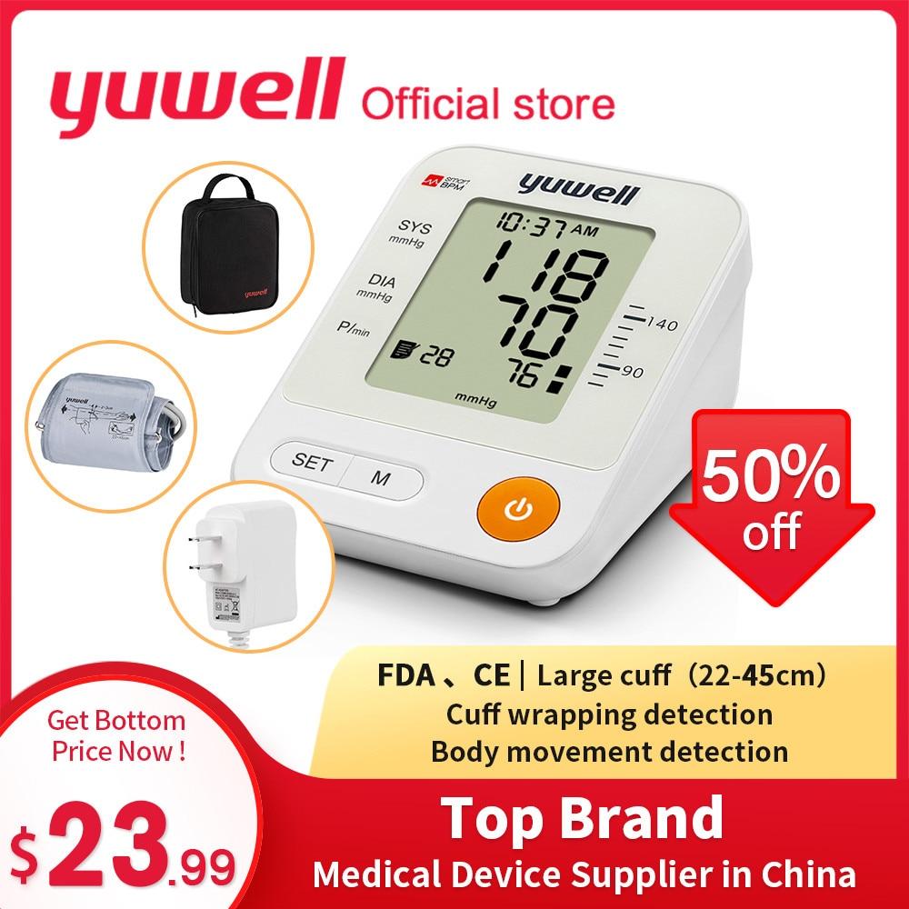 Yuwell YE670A Blood Pressure Monitor Watch Automatic Sphygmomanometer Digital Arm Blood Pressure Meter Big Screen Blood Pressure