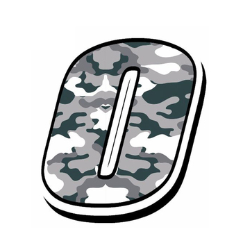 13cm X 10cm Hot Sell Creative Racing Numbers CAMOUFLAGE GRAY Stickers Car Sticker Accessories Car Styling Cover Waterproof PVC image