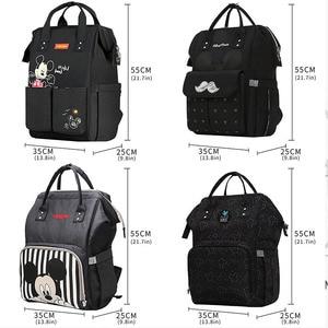 Image 5 - Disney USB Diaper Bag Backpack Mummy Maternity/Nappy Bag baby bag Baby Mickey Mouse Travel  Nursing Bag Baby Care Bag Wet bag