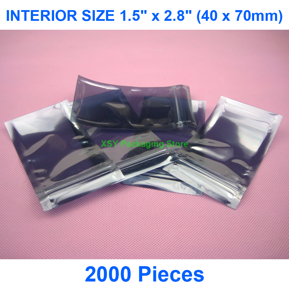 """2000 штук ESD Ziplock Сумки Внутренний размер 1,5 """"x 2,8"""" (40x70 мм) Маленькое антистатическое Экранирование мешок электронные упаковочные пакеты"""