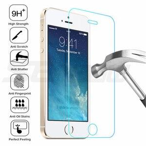 Image 2 - 9H temperli koruyucu cam iPhone 5 5S SE 4 4S güvenlik ekran koruyucu için iphone 6 6S 7 8 artı koruma cam filmi kılıfı