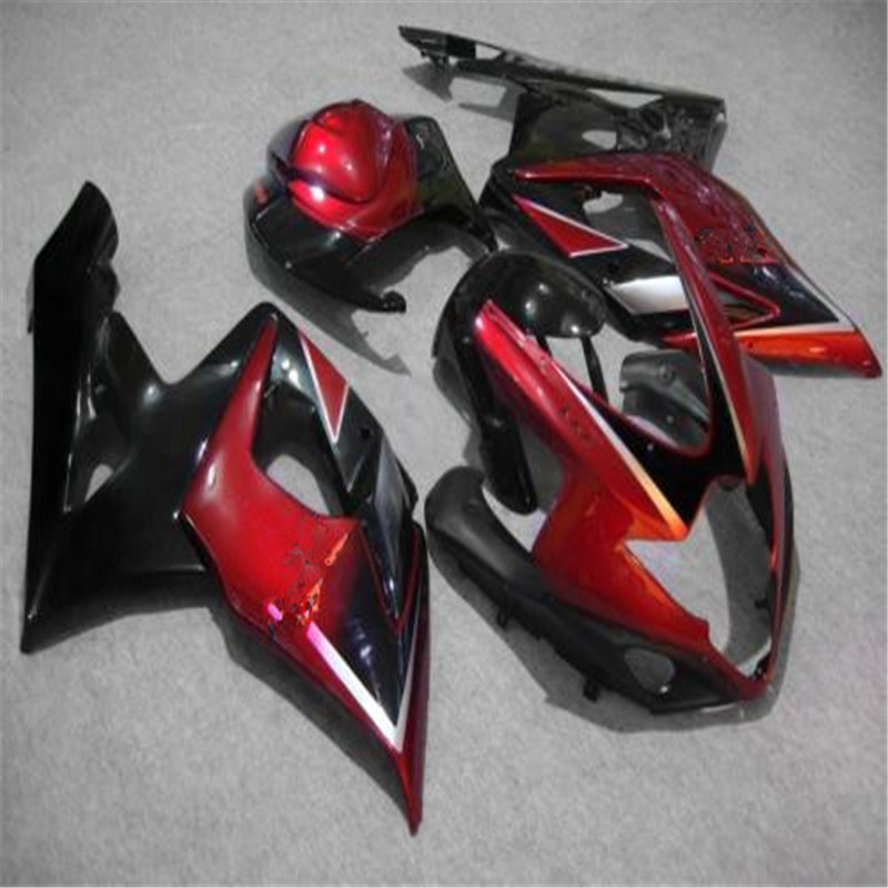 High quality Injection mold <font><b>fairings</b></font> for <font><b>Suzuki</b></font> <font><b>GSXR1000</b></font> K5 <font><b>K6</b></font> red black <font><b>fairing</b></font> kit GSXR 1000 05 06 image