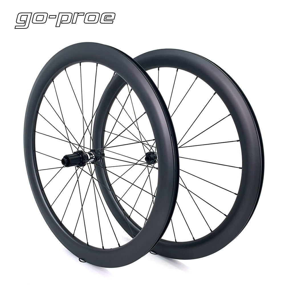 Go-proe 700c Road Disc Brake Carbon Wheelset DT Swiss 350 Center Lock Or <font><b>6</b></font>-bolt Lock Hub Carbon <font><b>Wheels</b></font> Cycling Pillar 1423 <font><b>Spoke</b></font> image