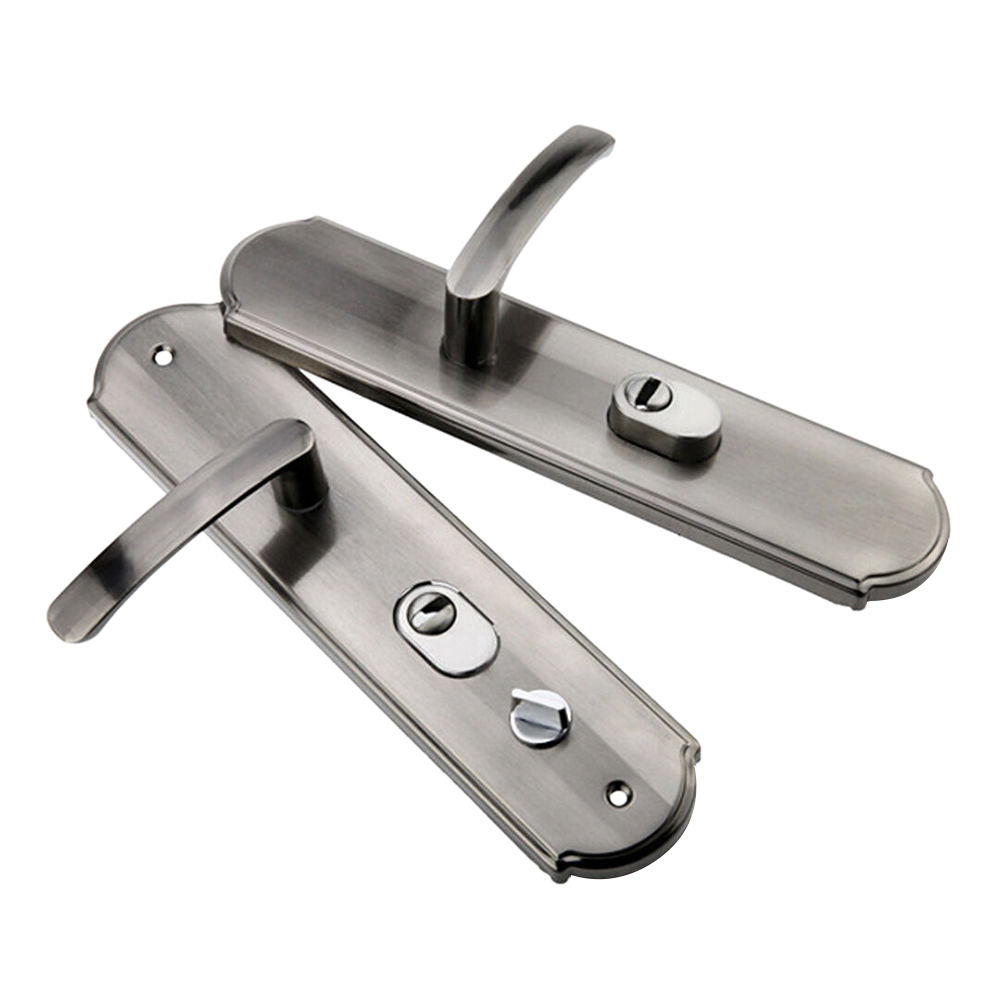 Hot Popular Lever Door Handles Interior Security Door Handle Pair Lock Panel New Security Door Handle