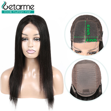 Closure Wig Lace-Wig Human-Hair-Wigs Jazz Star Getarme Pre-Plucked Straight 4x4
